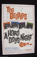 "Music Memorabilia:Posters, The Beatles: Original 1964 1-Sheet Poster for ""A Hard DaysNight""...."