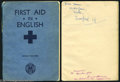 Music Memorabilia:Autographs and Signed Items, George Harrison's Grammar School First Aid Book - Signed!...