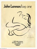 "Music Memorabilia:Miscellaneous, The Beatles: John Lennon ""Bag One"" Litho Set from Amsterdam(1970).... (15 Items)"