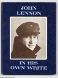 Music Memorabilia:Autographs and Signed Items, The Beatles: John Lennon & Ringo Starr Signed Book - In His OwnWrite....