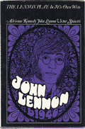 Music Memorabilia:Autographs and Signed Items, The Beatles: John Lennon Signed Book - The Lennon Play: In His OwnWrite - 1968....