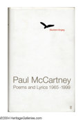 "Music Memorabilia:Autographs and Signed Items, The Beatles: Paul McCartney Signed ""Blackbird Singing"" Book(2001)...."