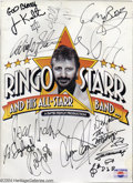 Music Memorabilia:Autographs and Signed Items, The Beatles: Ringo Starr and All-Star Band Signed Program -1989....