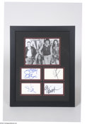 Music Memorabilia:Autographs and Signed Items, Black Sabbath Group Signed Display....