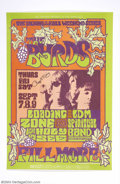 Music Memorabilia:Autographs and Signed Items, The Byrds: Roger McGuinn Signed Vintage Concert Poster....