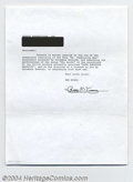 Music Memorabilia:Autographs and Signed Items, The Byrds: Roger McGuinn Signed Document....