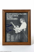 Music Memorabilia:Autographs and Signed Items, The Cars: Elliot Easton Signed Magazine Page....
