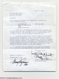 Music Memorabilia:Autographs and Signed Items, Bobby Darin Vintage Signed Document (1958)....