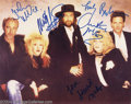 Music Memorabilia:Autographs and Signed Items, Fleetwood Mac Group Signed Photograph....