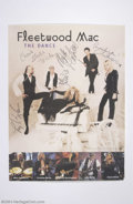 Music Memorabilia:Autographs and Signed Items, Fleetwood Mac Signed Publicity Poster (1997)....