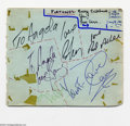 Music Memorabilia:Autographs and Signed Items, The Fortunes Signed Album Page (1960's)....