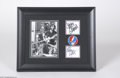 Music Memorabilia:Autographs and Signed Items, Grateful Dead Jerry Garcia Signed Framed Display....