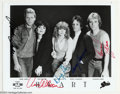 Music Memorabilia:Autographs and Signed Items, Heart Group Signed 8 x 10 Photograph....