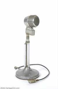 Jimi Hendrix Personally Owned 1930's Vintage Microphone. This vintage microphone served as funky decor in Jimi Hendrix's...