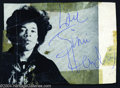 Music Memorabilia:Autographs and Signed Items, Jimi Hendrix Signed Photograph Clipping....