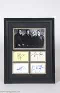 Music Memorabilia:Autographs and Signed Items, The Highwaymen Signed Framed Display....