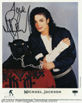 Music Memorabilia:Autographs and Signed Items, Michael Jackson Signed Photograph....