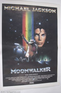 "Music Memorabilia:Autographs and Signed Items, Michael Jackson In-Person Signed Original ""Moonwalker"" Italian2-Sheet...."