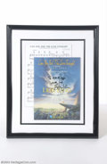 "Music Memorabilia:Autographs and Signed Items, Elton John Signed Sheet Music - ""Can You Feel The Love Tonight""...."