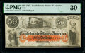 Confederate Notes:1861 Issues, T15 $50 1861 PF-1 Cr. 79 PMG Very Fine 30.. ...