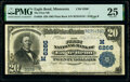 National Bank Notes:Minnesota, Eagle Bend, MN - $20 1902 Plain Back Fr. 650 The First National Bank Ch. # (M)6266 PMG Very Fine 25.. ...