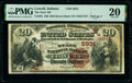 Lowell, IN - $20 1882 Brown Back Fr. 504 The State National Bank Ch. # (M)5931 PMG Very Fine 20