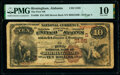 Birmingham, AL - $10 1882 Brown Back Fr. 480 The First National Bank Ch. # (S)3185 PMG Very Good 10