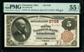 Cincinnati, OH - $5 1882 Brown Back Fr. 470 The Fifth National Bank Ch. # 2798 PMG About Uncirculated 5