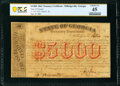 Obsoletes By State:Georgia, Milledgeville, GA- State of Georgia $5,000 September 12, 1864 Cr. TC05 PCGS Banknote Choice XF 45. ...