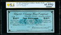 Obsoletes By State:Nevada, Rhyolite, NV- Rhyolite Clearing House Certificate $10 Nov. 30, 1907 Remainder PCGS Banknote Gem Unc 65 PPQ.. ...