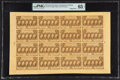 Fractional Currency:First Issue, Fr. 1281 25¢ First Issue Complete Sheet of Sixteen PMG Gem Uncirculated 65 EPQ.. ...