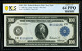 Large Size:Federal Reserve Notes, Fr. 1088 $100 1914 Federal Reserve Note PCGS Banknote Choice Unc 64 PPQ.. ...