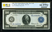 Fr. 1088 $100 1914 Federal Reserve Note PCGS Banknote Choice Unc 64 PPQ