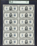 Fr. 1654 $5 1934D Wide I Silver Certificates. Uncut Sheet of Twelve. PCGS Very Choice New 64