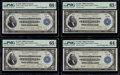 Cut Sheet of Four Courtesy Autographed Fr. 757 $2 1918 Federal Reserve Bank Notes PMG Graded. ... (Total: 4 notes)