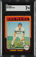 Baseball Cards:Singles (1970-Now), 1975 Topps Robin Yount #223 SGC NM 7....