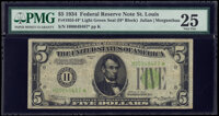 Fr. 1955-H* $5 1934 Light Green Seal Federal Reserve Star Note. PMG Very Fine 25
