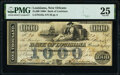 New Orleans, LA- Bank of Louisiana $1,000 May 22, 1862 G32a PMG Very Fine 25