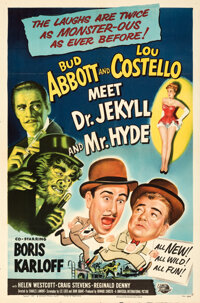 """Abbott and Costello Meet Dr. Jekyll and Mr. Hyde (Universal International, 1953). Folded, Very Fine. One Sheet (27""""..."""