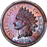 1858 P1C Indian Cent, Judd-209, Pollock-260, R.8, PR66+ Red and Brown PCGS....(PCGS# 11888)