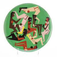 Nina Chanel Abney (b. 1982) Untitled, 2020 Fine bone china 10-3/4 inches (27.3 cm) diameter Edition of 175 Stamped