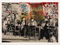 Mr. Brainwash (b. 1966) Le Bistro, 2008 Screenprint in colors on textured Archival Art paper 22 x 30 inches (55.9 x 7