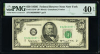 Fr. 2112-B* $50 1950E Federal Reserve Star Note. PMG Extremely Fine 40 EPQ