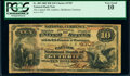Guthrie, OT - $10 1882 Brown Back Fr. 485 The Capitol National Bank Ch. # 4705 PCGS Very Good 10