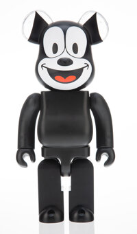 BE@RBRICK X BAIT Felix the Cat 400%, 2016 Painted cast resin 10-3/4 x 5 x 3-1/2 inches (27.3 x 12.7 x 8.9 cm) Stampe