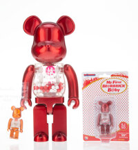 BE@RBRICK X Action City My First BE@RBRICK B@by (Singapore/Japan 50th Anniversary) 400% and 100% (three works), 201