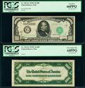 Fr. 2213-G $1,000 1934C Federal Reserve Note Face and Back Specimens PCGS Gem New 66PPQ; Very Choice New 64PPQ. ... (Tot...