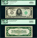 Fr. 2213-E $1,000 1934C Federal Reserve Note Face and Back Specimens PCGS Gem New 65PPQ; Very Choice New 64PPQ. ... (Tot...