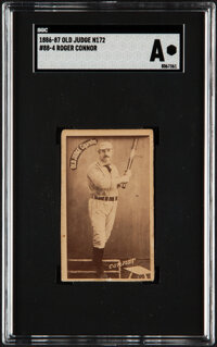 1886-87 N172 Old Judge Roger Connor #88-4 SGC Authentic