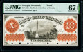 Obsoletes By State:Georgia, Savannah, GA- Bank of the State of Georgia $10 18__ as G62a Proof PMG Superb Gem Unc 67 EPQ.. ...